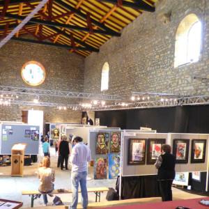 Photo de l'exposition 2015 intitulée Parcours d'Artistes au Vieux Collonges