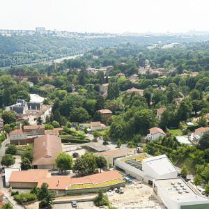 Vue sur la Saône et Fourvières depuis Collonges