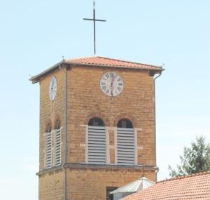 Vue sur le clocher du Bourg