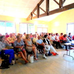 Photographie prise lors de la présentation des Comités de quartier