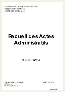 recueil des actes administratifs - couv filet beige