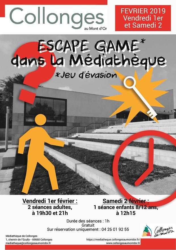 affiche escape game 2019